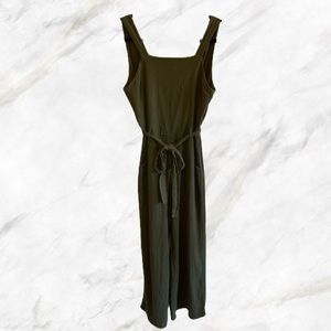 Monteau | Army Green Sleeveless Jumpsuit